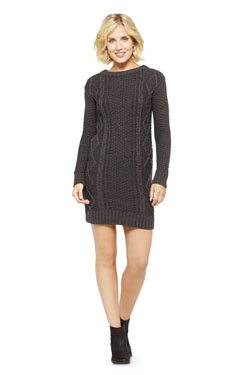Women's Sweater Chunky Cable Sweater Dress