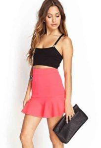 neon-fluted-skirt