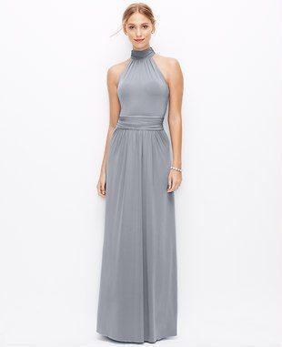 dark grey formal gown