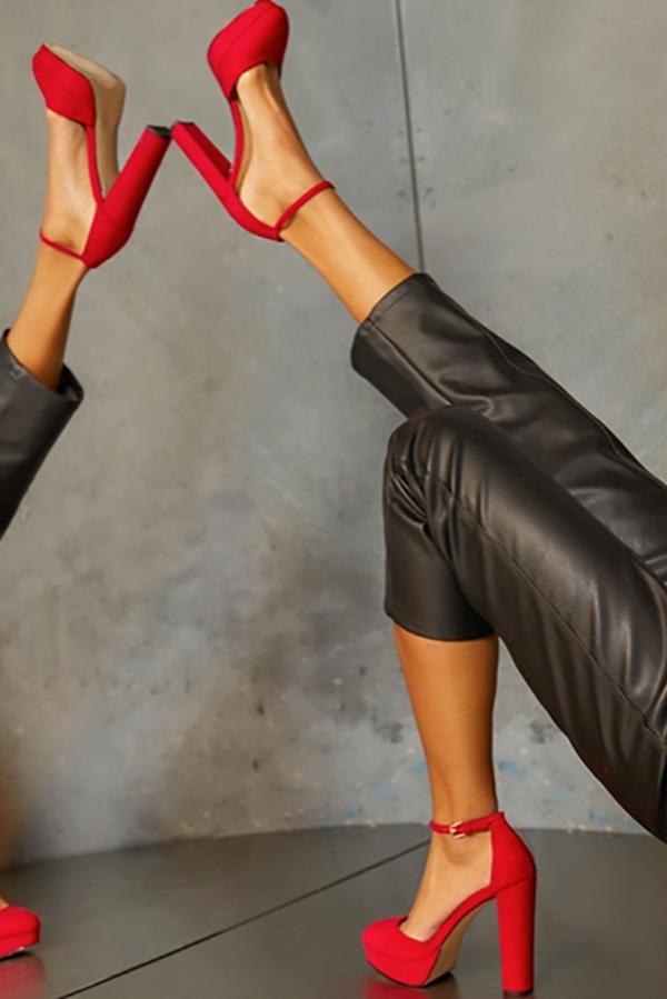 Red Sabrina pump from shoe membership club ShoeDazzle.