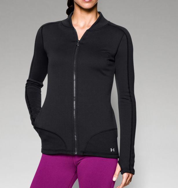 black athletic zip up jacket
