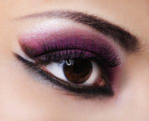Fashion violet make-up