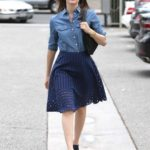 "05/15/2015 - Emmy Rossum - Emmy Rossum Sighted in Los Angeles on May 15, 2015 - Street - Los Angeles, CA, USA - Keywords: Black Open Toe High Heel Shoes, Full Length Shot, Blue Skirt, Blue Blouse, Black Pocketbook, Handbag, Purse, Bracelet, Ring, Rings, Watch, Necklace, Jewelry, Sunglasses, Long Wavy Brown Hair, California, Vertical, Emmanuelle Grey ""Emmy"" Rossum, Emmanuelle Rossum, American actress, singer-songwriter, Songcatcher, ""An American Rhapsody"", ""Passionada"", ""Mystic River"", Candid, Celebrity, Celebrities, Arts Culture and Entertainment, Topix, Bestof Orientation: Portrait Face Count: 1 - False - Photo Credit: STPR / PRPhotos.com - Contact (1-866-551-7827) - Portrait Face Count: 1"