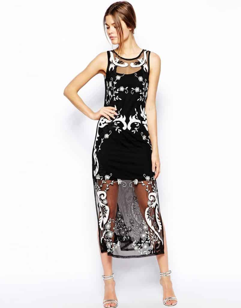 ASOS Embroidered Midi Dress, $70, ASOS.com