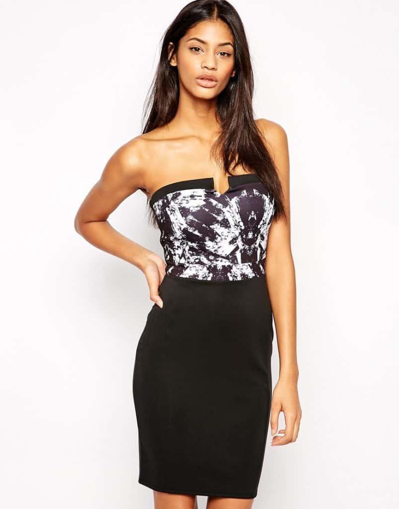 Lipsy Printed Strapless Dress, $54, ASOS.COM