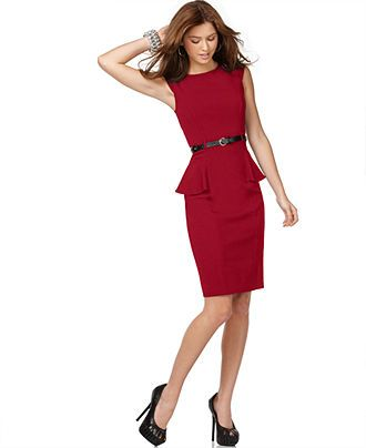 XOXO Juniors' Cap-Sleeve Peplum Sheath Dress, $39.98, macys.com