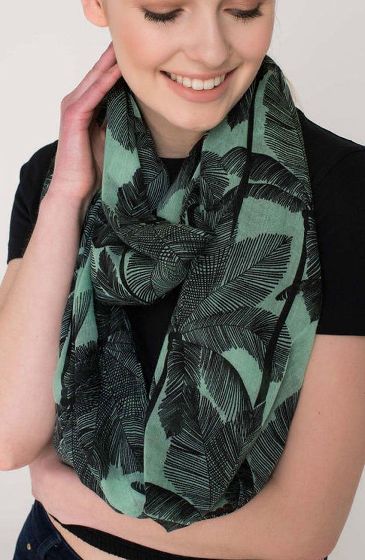 Palm print infinity scarf
