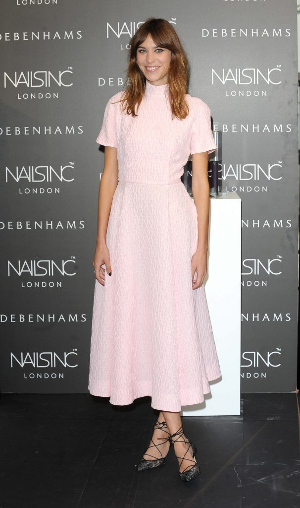 "Alexa Chung's ""Alexa Manicure"" Collection Launch Photocall at Debenhams in London"