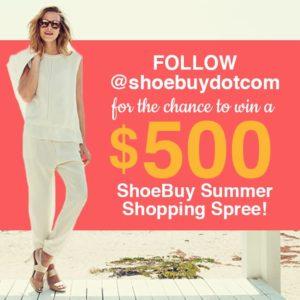 shoebuy contest flyer