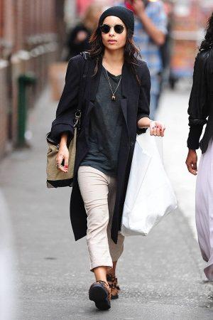 Zoe Kravitz wearing a beanie and sunglasses