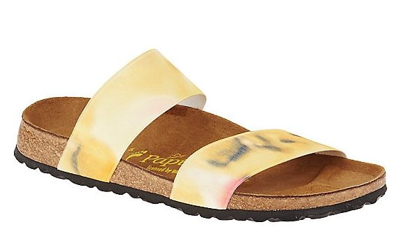 yellow birkenstocks