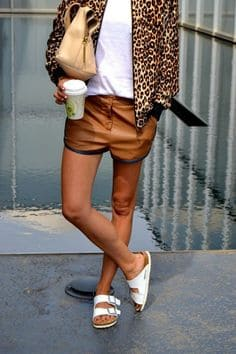 Stylish woman wearing Birkenstocks
