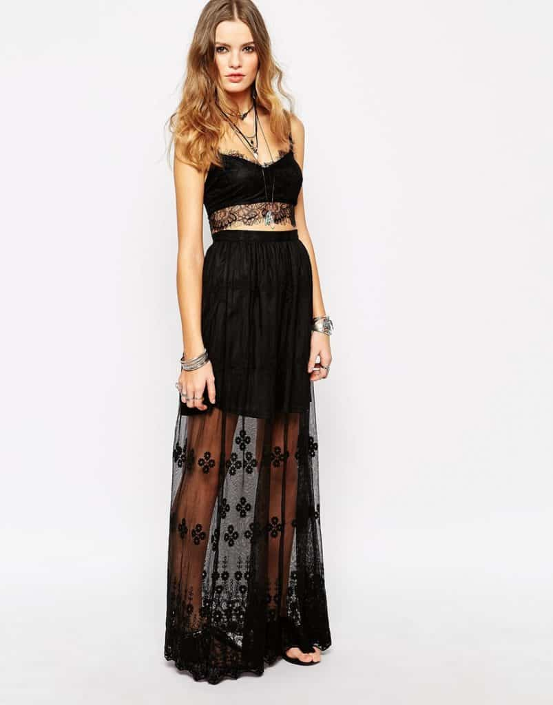 Sheer Maxi Skirt, $47, ASOS