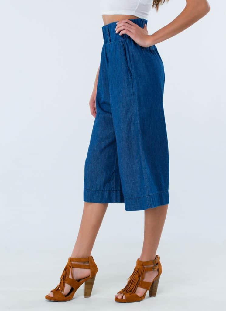 Blue Denim Culottes, $29.26, GoJane.com