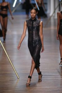Model walks the runway at the Jason Wu show during Spring 2014 Mercedes-Benz Fashion Week.
