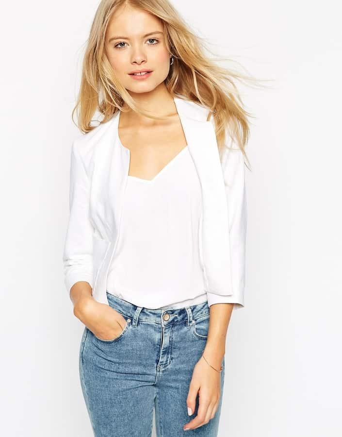 Linen White Blazer, $69, ASOS.com