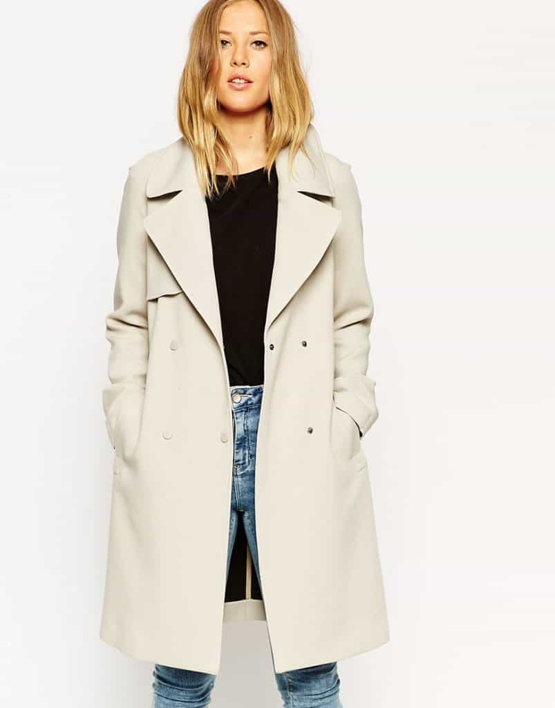 ASOS Trench In Bonded Cloth, $135, ASOS.com