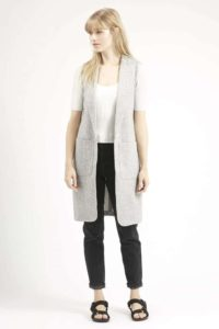 Longline Sleeveless Pocket Blazer, $80, Topshop