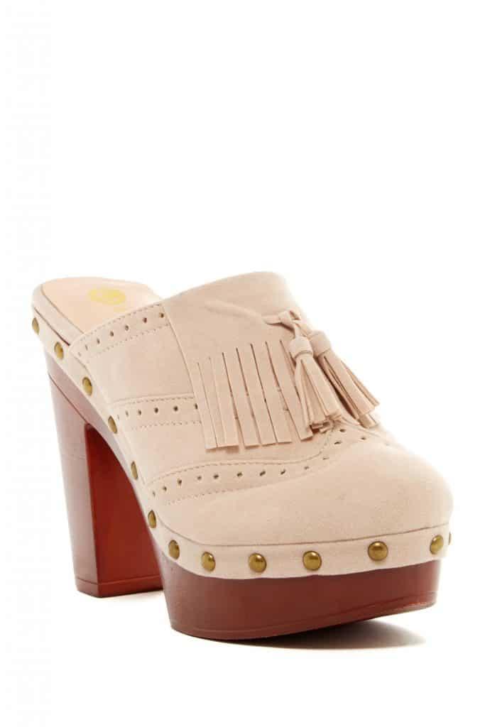 Platform clog shoe