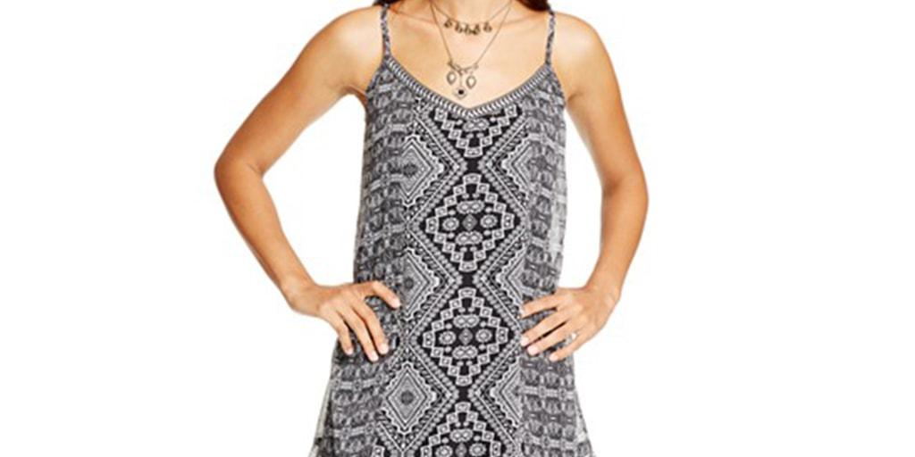 Woman wearing slip dress