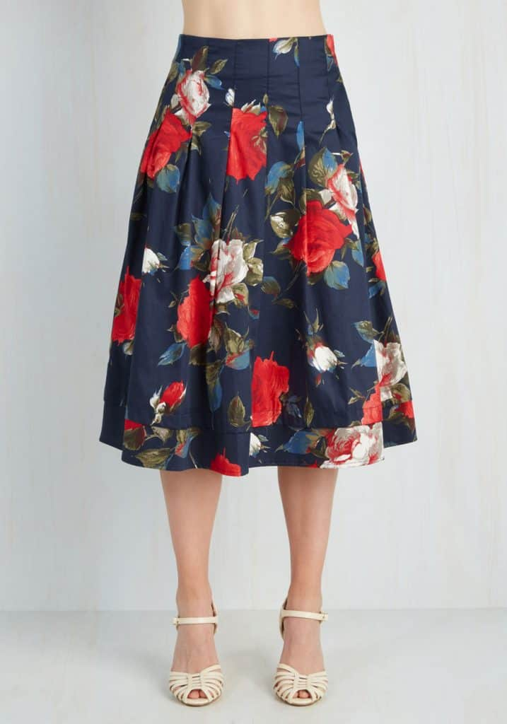 Greenhouse Grandeur Skirt, $89.99, Modcloth