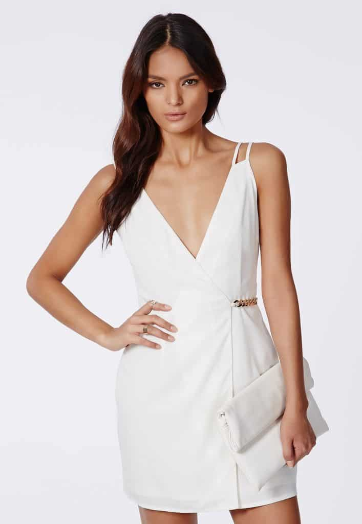 Judy Crepe White Shift Dress, $17, Missguided