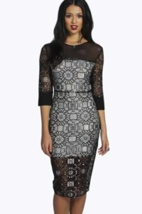 Alya Metallic Party Dress, $44, Boohoo