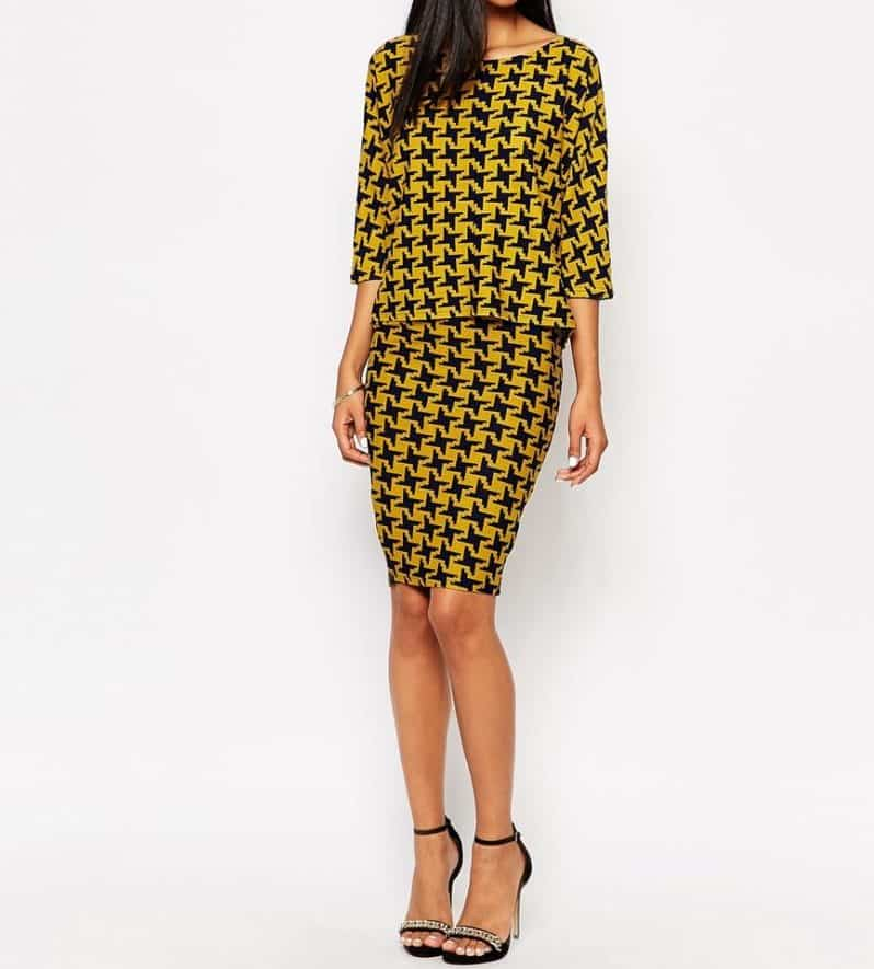 AX Paris Midi Skirt in Houndstooth, $26, ASOS