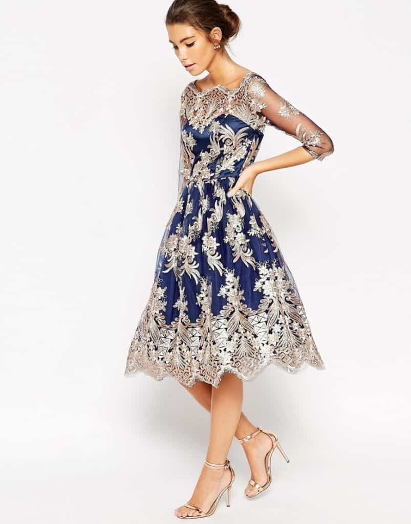 Chi Chi London Premium Lace Midi Prom Dress, $144, ASOS