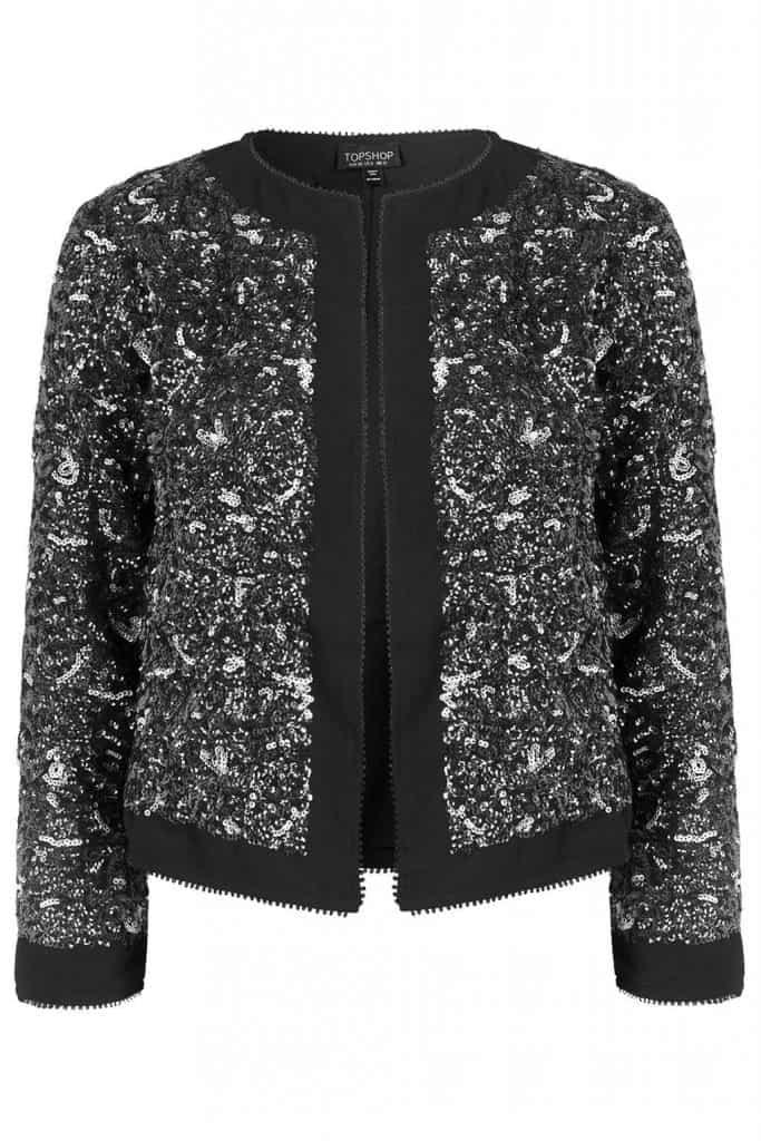 Sequin Jacket, $60, Topshop