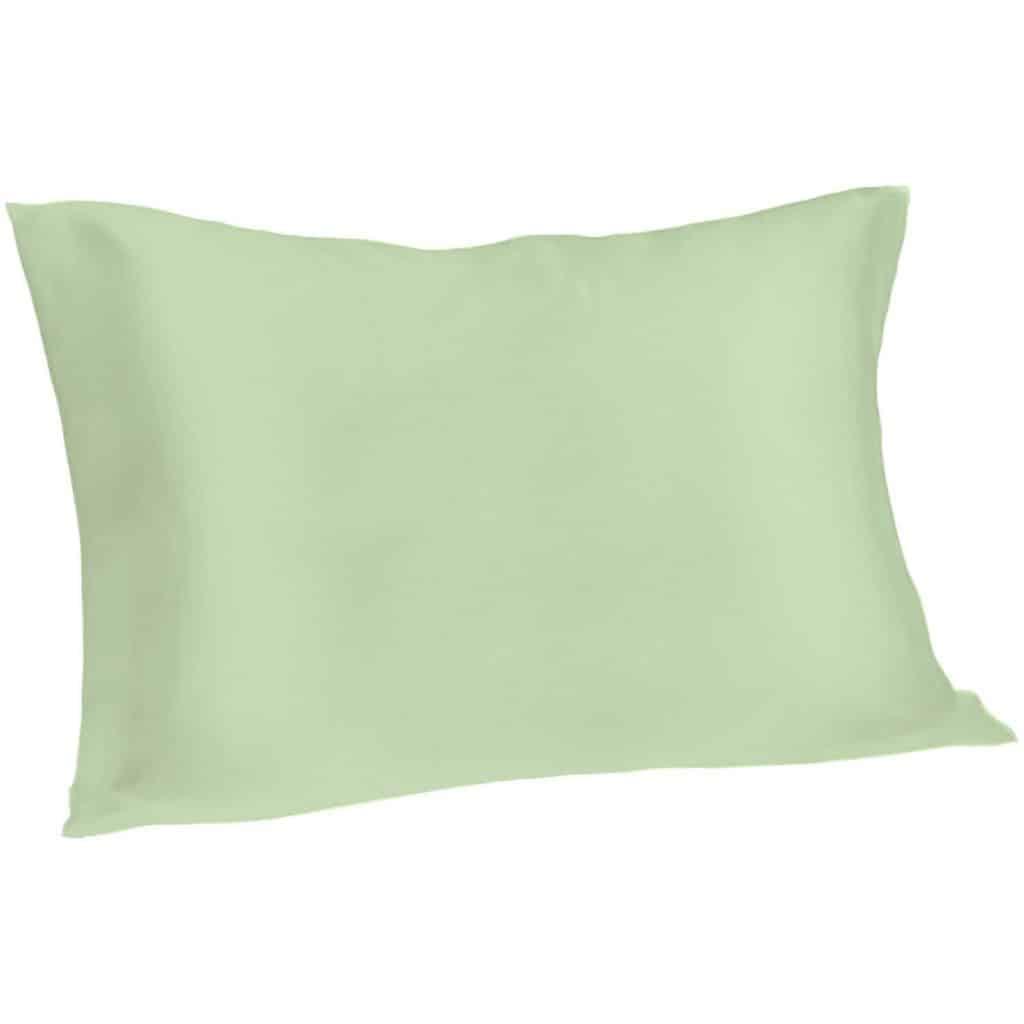 green silk pillowcase