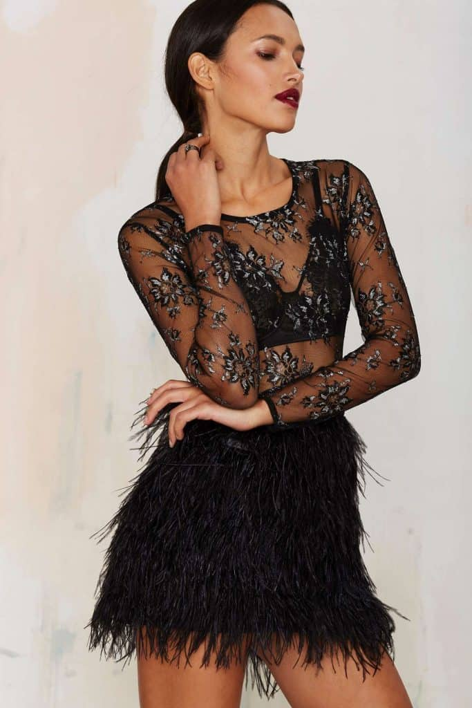 After Party Vintage Tara Sheer Lace Top, $42, Nasty Gal