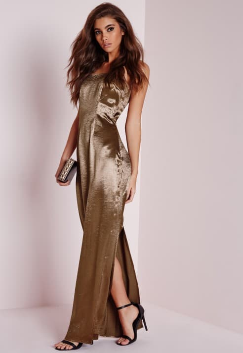Silky Low Back Maxi Dress, $59.50, Missguided