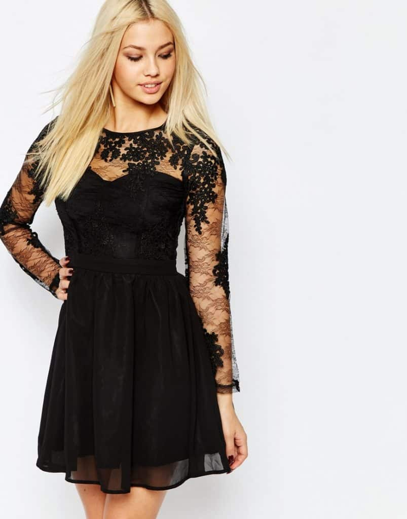 Lace Sleeve Prom Dress, $94, ASOS