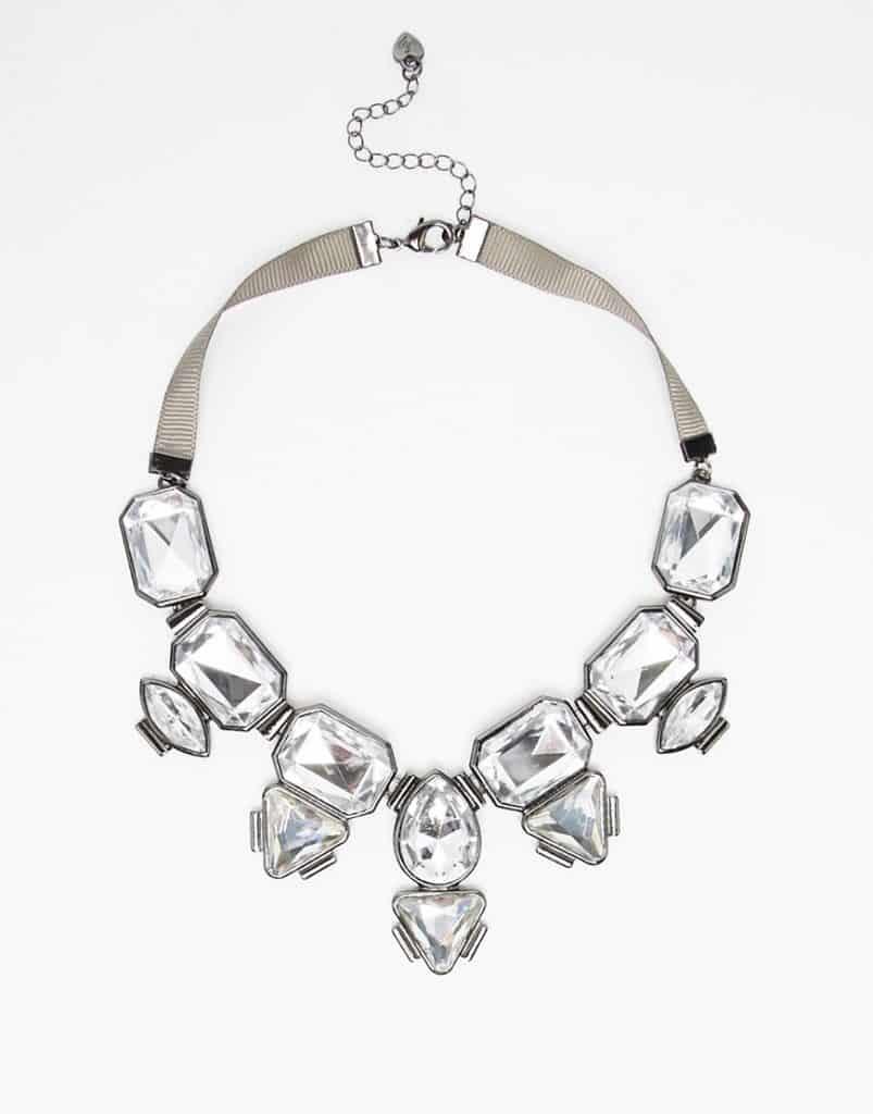 Multi-Stone Statement Necklace, $17, ASOS