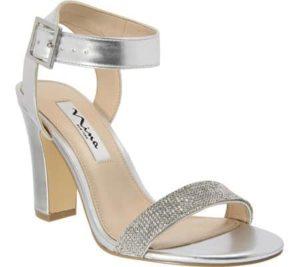 Silver Chunky Heel, $88.95, Shoebuy.com