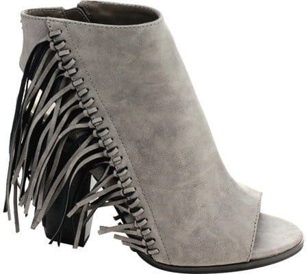 Gray Fringe Bootie, $51.95, Shoebuy.com