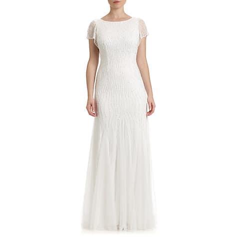 Adrianna Papell Wedding Beaded Godet Gown, $425, John Lewis