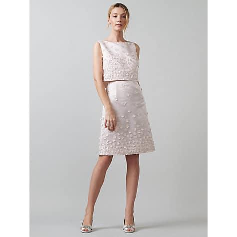 Bridal Flora Wedding Dress, Oyster, $418, John Lewis