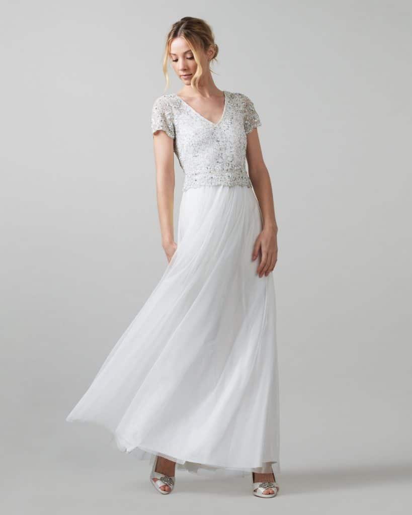 Evangeline Tulle Embellished Wedding Dress, $790, Phase Eight