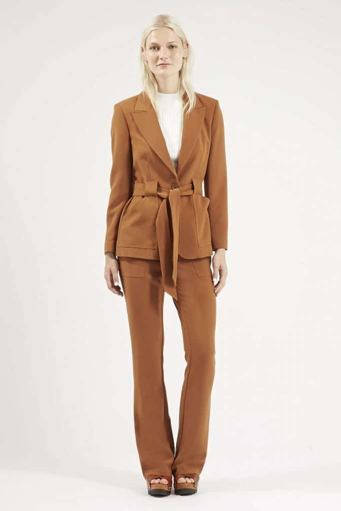 Belted '70s Suit Jacket and Flares, $120, Topshop