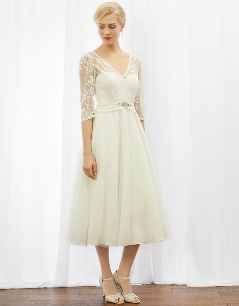 Coralie Tea Length Dress, $525, Monsoon