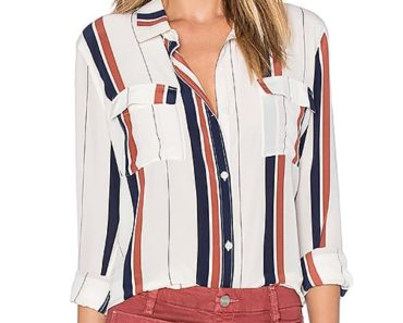 striped clothes - woman wearing striped blouse