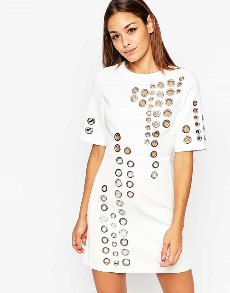 Eyelet Mini Dress, $154, ASOS