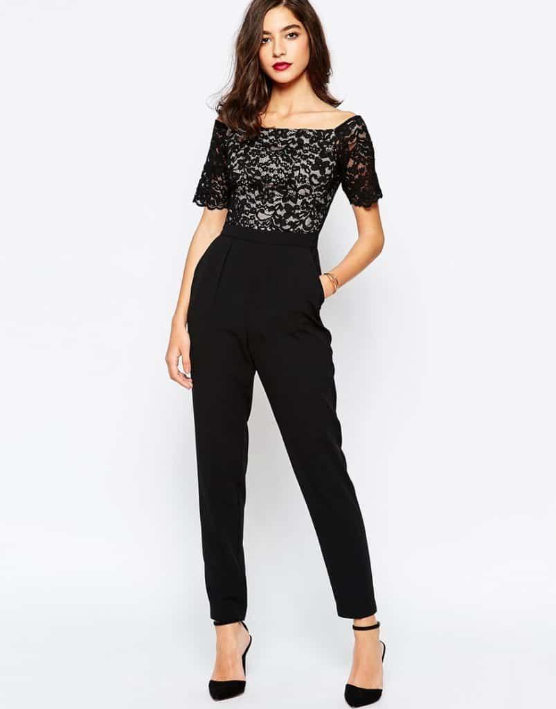 Warehouse Lace Shoulder Jumpsuit, $140, ASOS