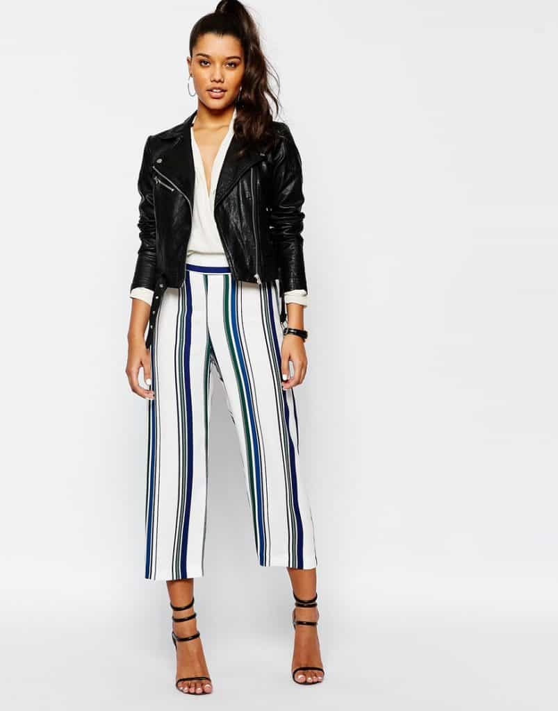 Stripe Crop Trousers, $66, ASOS
