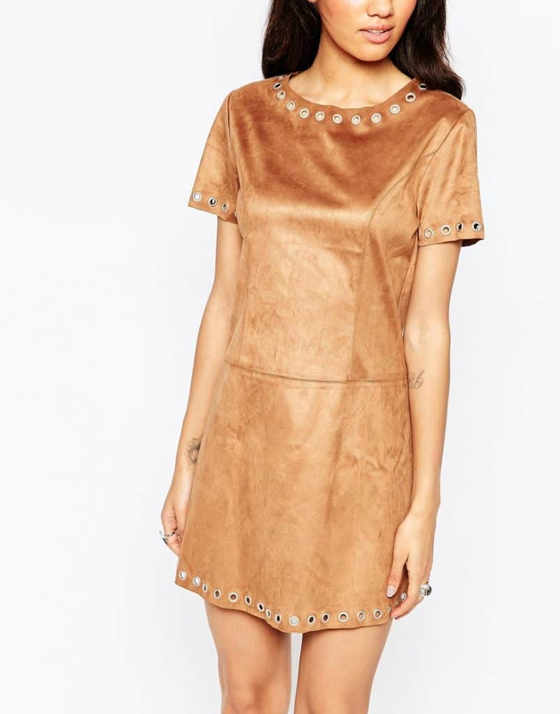 Suede Shift Dress, $45, ASOS