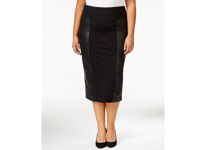 Melissa McCarthy Seven7 Plus Size Faux-Leather Pencil Skirt, $79, Macy's