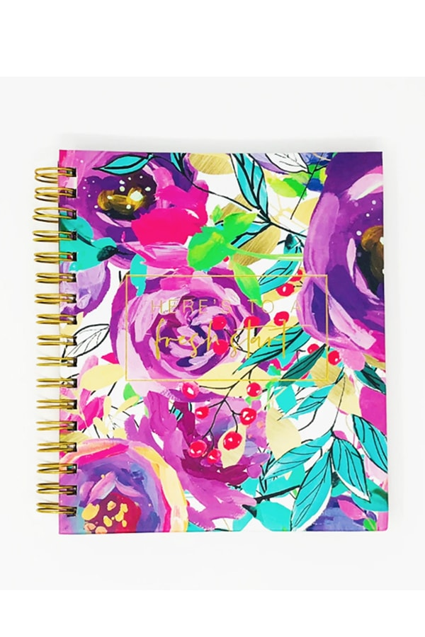 Planner with floral cover