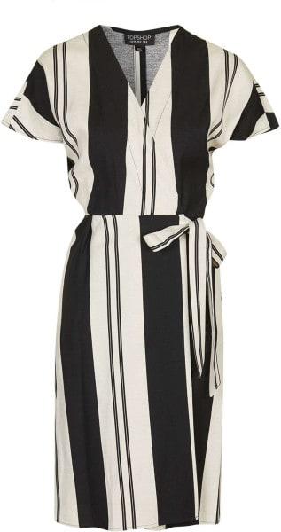 Stripe Wrap Dress, $105, Topshop